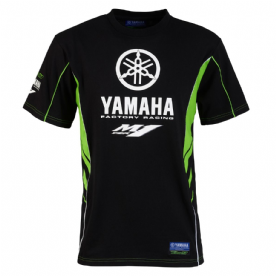 Yamaha Team T-Shirt Black Green